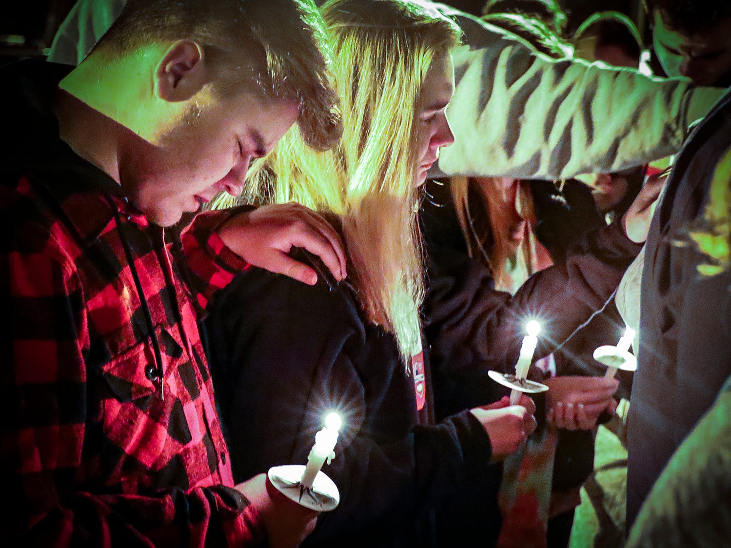 A vigil was held at Eagleville School Tuesday, Nov. 6, 2018 in memory of Angie Walker. Walker, 41, was killed during an EF-2 tornado in Christiana, Tenn.