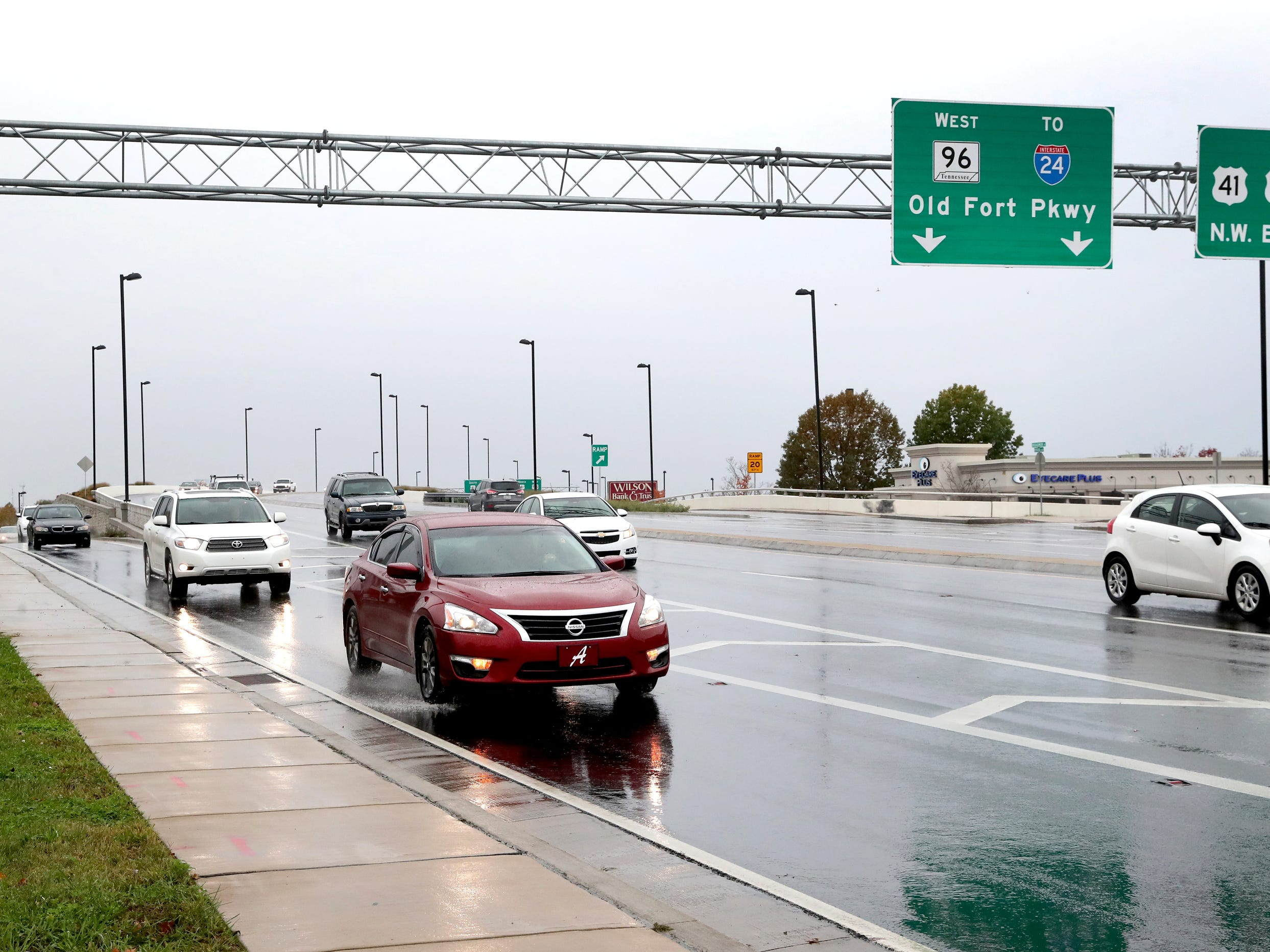 Traffic flows over the Bridge over Broad bridge, on Wednesday, Nov. 7, 2018, that opened nearly a year ago in December of 2017.