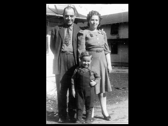 """Ben Alalouf and his parents, Alfredo and Doudon """"Daisy"""" Alalouf, lived at the Fort Ontario refugee camp in Oswego, N.Y., during World War II."""