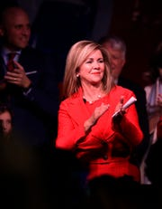 during the election night watch party for Republican U.S. Senate candidate Marsha Blackburn  Tuesday, Nov. 6, 2018, in Franklin, Tenn.