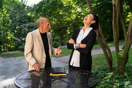 """Ann Curry interviews Mt. Juliet resident Ben Alalouf for the second season of """"We'll Meet Again"""" on July 19, 2018."""