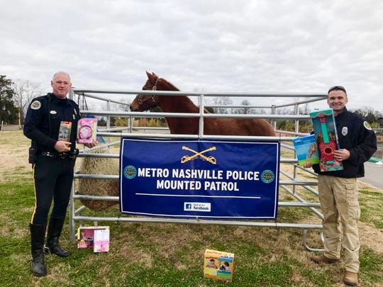 Donate toys and get free Nashville Zoo admission by joining the Metro Nashville Police Department's Mounted Patrol Division's toy collection.