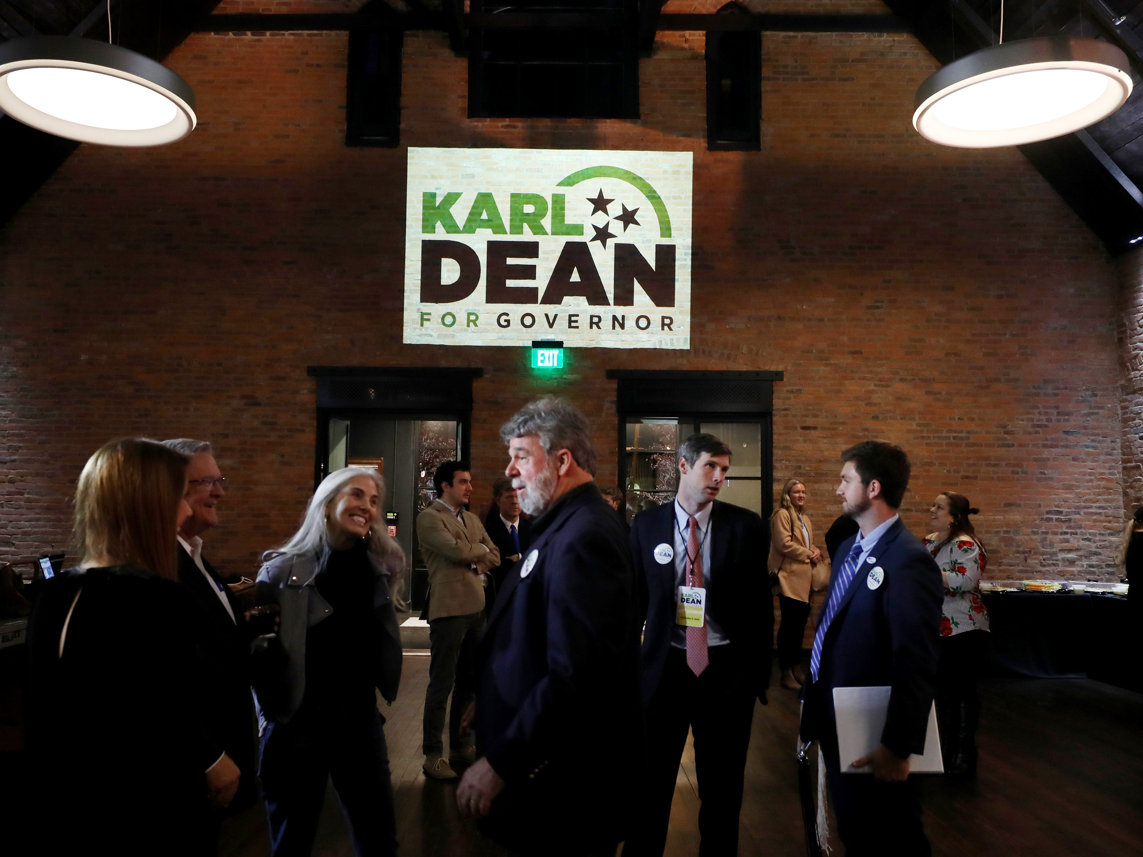 Guests arrive for Democratic gubernatorial candidate Karl Dean's campaign party held at Clementine Tuesday, November 6, 2018.