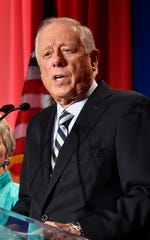 Democratic U.S. Senate candidate Phil Bredesen delivers his concession speech to supporters at his campaign watch party at the Hilton Hotel Tuesday Nov. 6, 2018, in Nashville, Tenn.