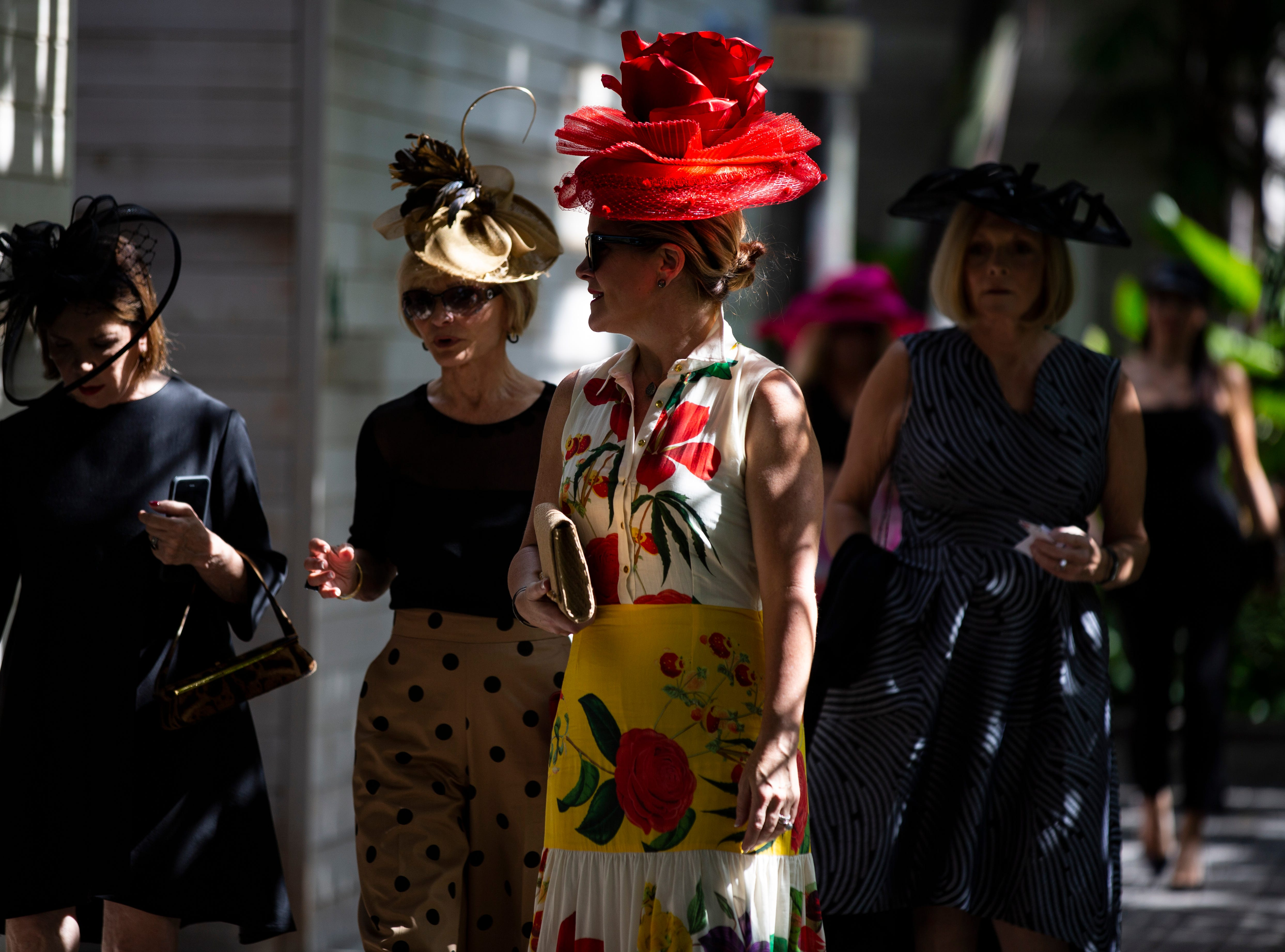 Guests arrive at the 15th annual Hats in Garden fundraiser at Naples Botanical Garden on Nov. 7, 2018. The fundraiser marked the kickoff to the year's social season.  Since it's inception in 2004, the event has been supported by the Sustaining Leadership Council, a group of women who dedicate their time and charitable support to the Botanical Garden's special events and donor programs.