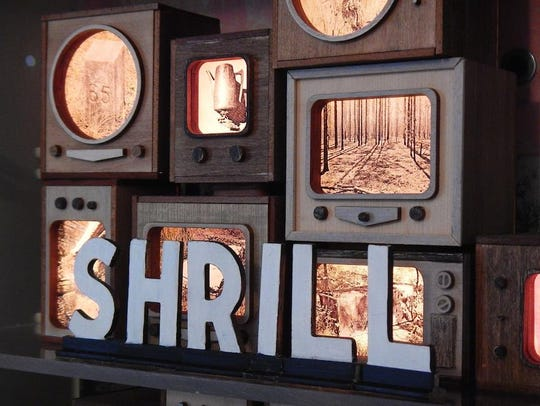 """""""Shrill"""" by Amy Fleming, an artist who creates mixed media from discarded trash that has been changed through time, is featured in  the Marco Island Center for the Arts' November """"By Virtue of Place: FSU MFA Alumni Exhibition."""""""