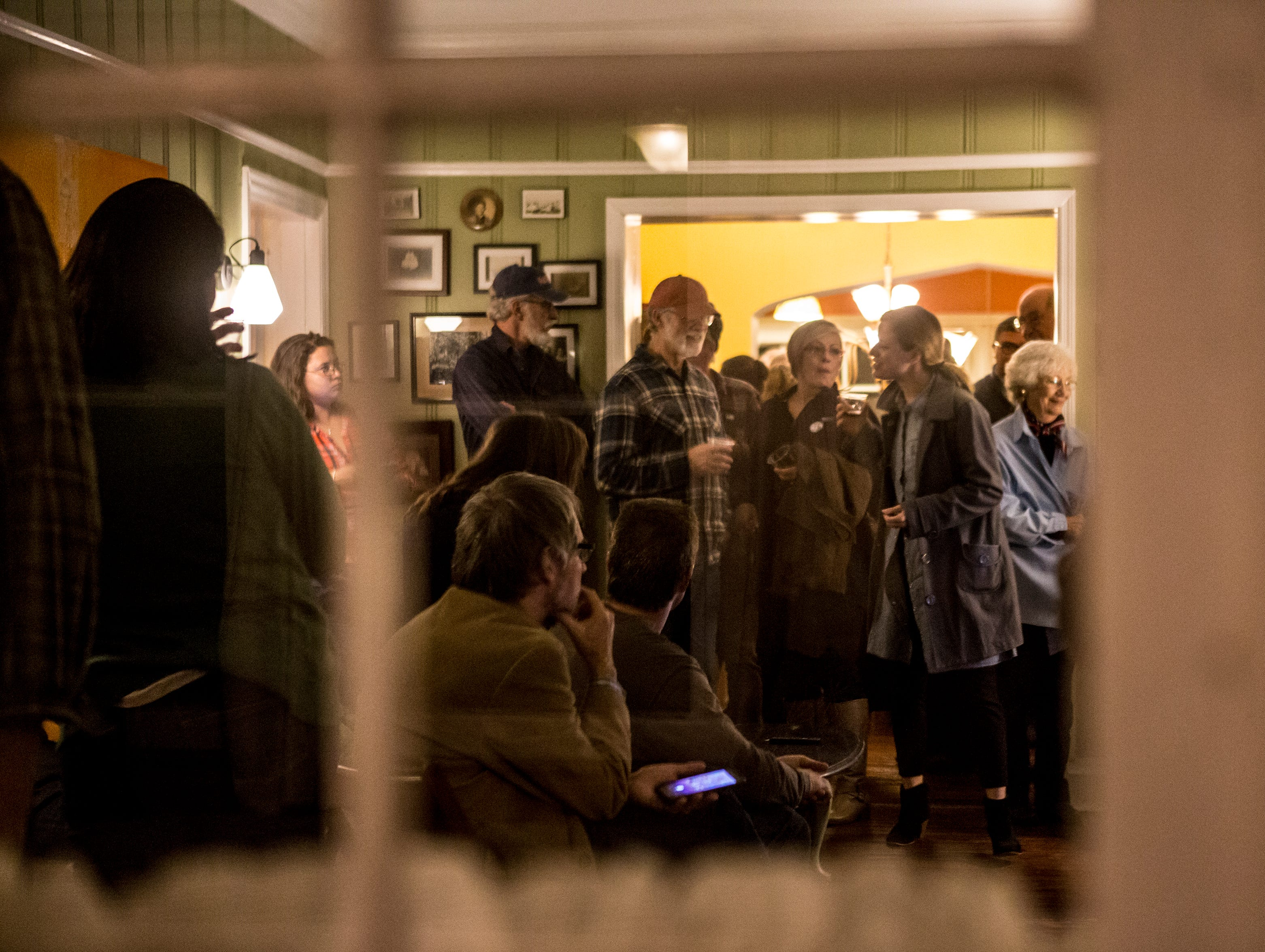 The Democratic Party holds their election night watch party at the Orchard House in Granville.