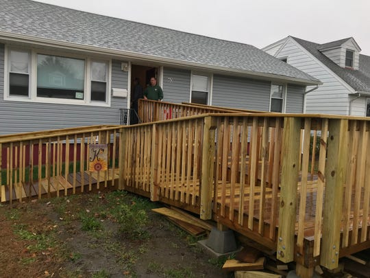 This ramp was installed at Tracy and Matthew Kulick's Totowa home by volunteers with Rebuilding Together North Jersey.