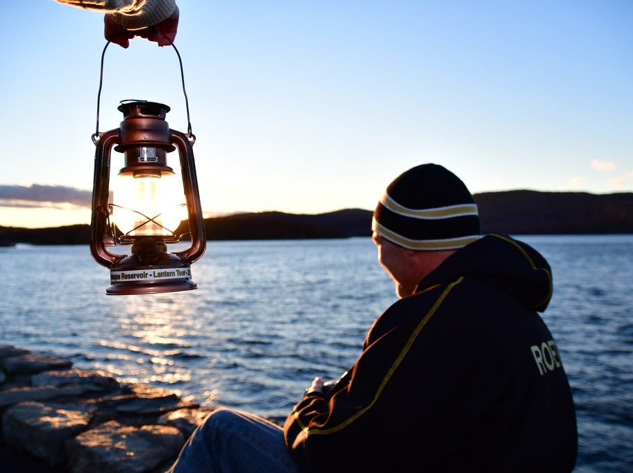 Jason Roettger looks out at the Wanaque Reservoir.