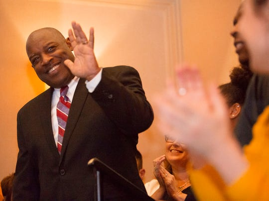 Anthony Cureton, the former president of the Bergen County NAACP,won in the Bergen County Sherrif's race. Bergen County Democrats convened  at the Hasbrouck Heights Hilton on Tuesday, November 6th to wait for election results