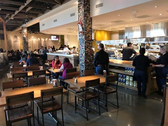 The interior of the new California Pizza Kitchen space at Westfield Garden State Plaza.