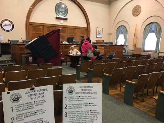 Bergenfield Borough Hall on Election Day at 3 p.m. More than 250 people had already voted at that point with the polls open for five more hours.