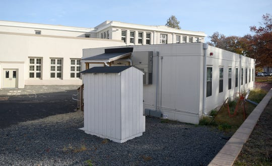 Nutley voters did not approve two ballot questions on November 6, 2018 that would have permitted a total of $66.97 million in financing, for the construction and or renovation of classrooms at four schools. Trailers at Washington Elementary School, pictured, will remain with an additional trailer scheduled to be added for the start of school in the fall. A double decker trailer will also be added to Spring Garden Elementary.