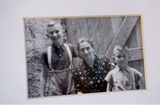 Carl Hausman, far right, photographed with his mother Caroline and brother Gunther before the war. Hausman survived the Holocaust but his family, including his father who is not pictured, did not survive.
