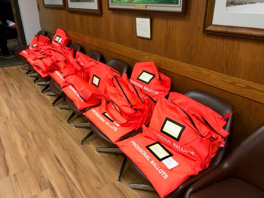 The election results in Tuesday City Council race will remain unofficial until the scores of provisional ballots have been cast. Here they are in bags Tuesday evening awaiting review by Passaic County.