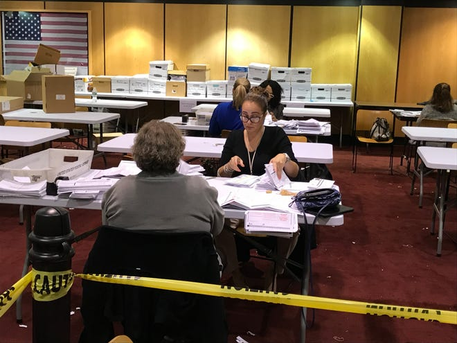 The Passaic County Board of Elections met Wednesday to count 14,000 mail-n ballots from Tuesday's election.