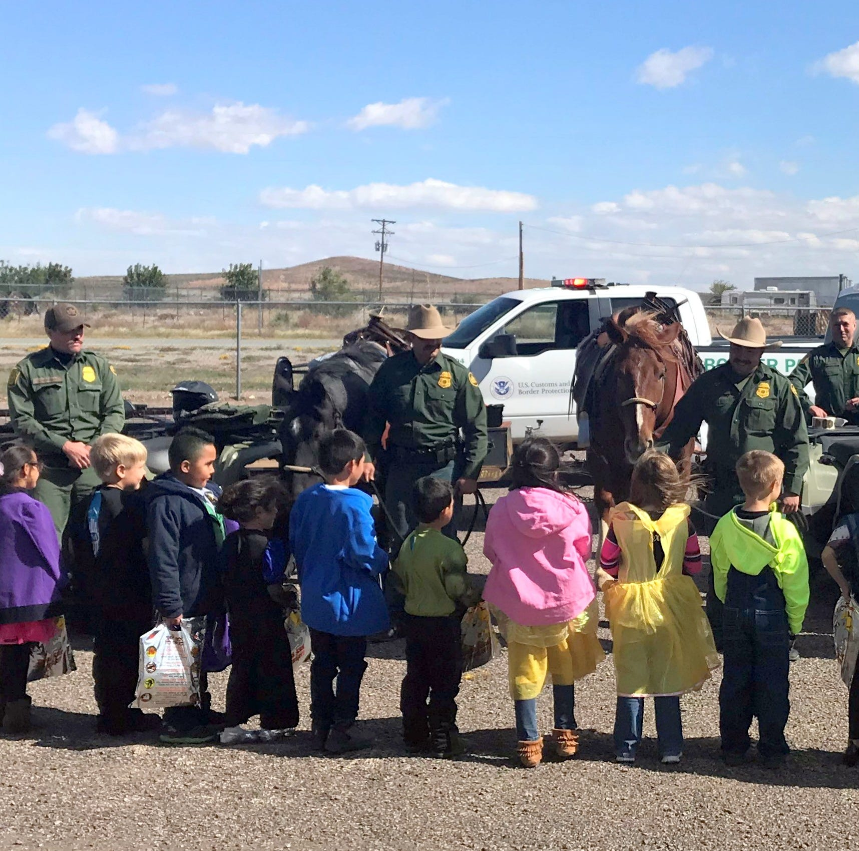 U.S. Border Patrol agents visit Animas Elementary School students on School Safety Day