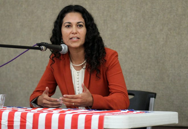 Democratic candidate Xochitl Torres Small talked about her campaign for U.S. Representative District 2 during a recent candidates' forum in Deming, NM.