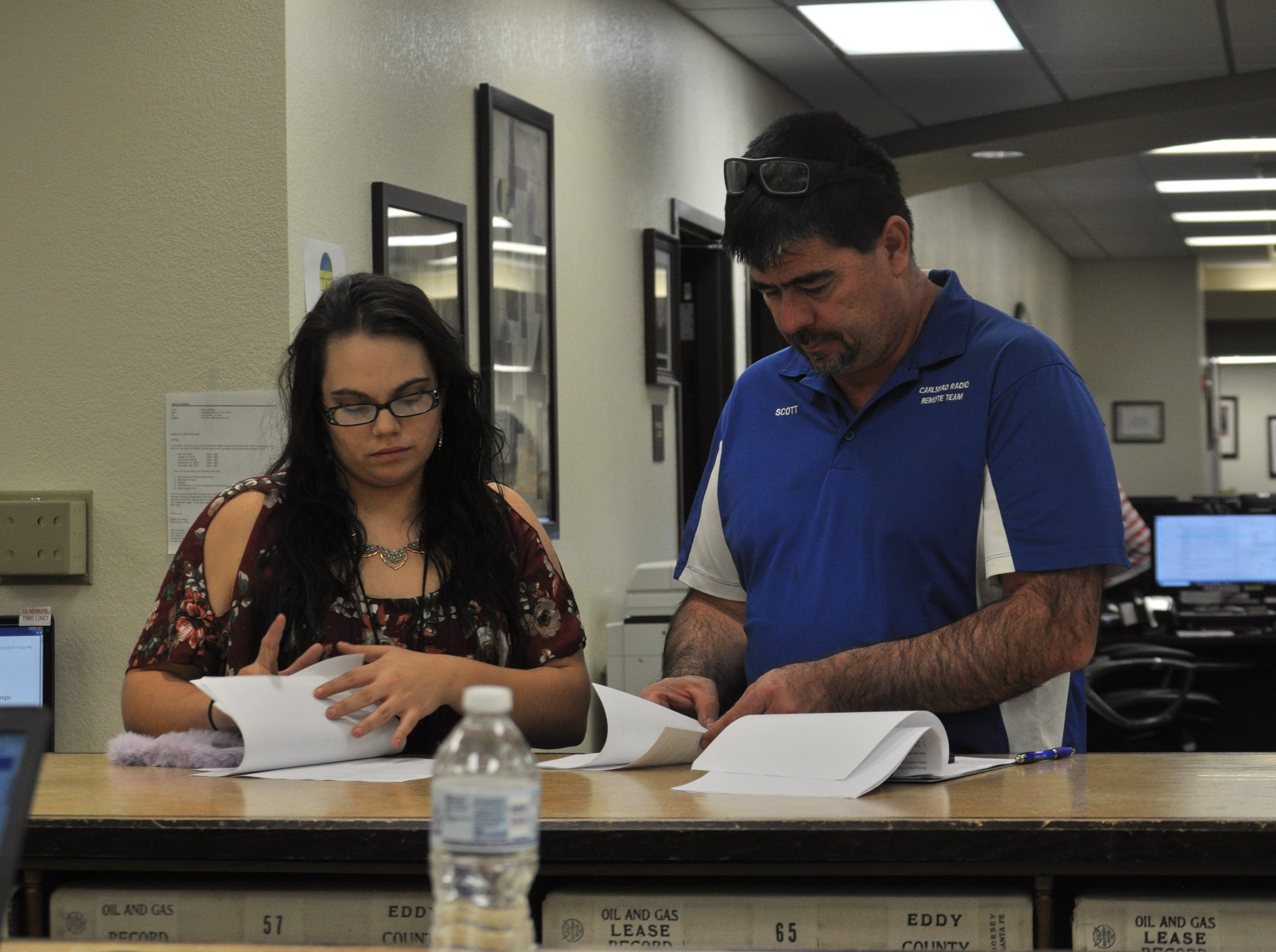 The Eddy County Bureau of Elections tallied voting results from 13 voting convenience centers Oct. 6 following the close of polling locations.