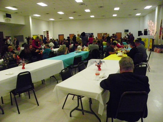 Hundreds of people were on hand at the Elk's Lodge in Alamogordo to watch election results trickle in.