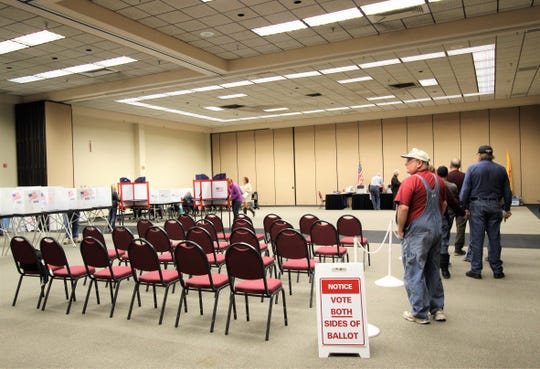 Voters wait in line to vote at the polls at the Ruidoso Convention Center knowing that every vote counts.