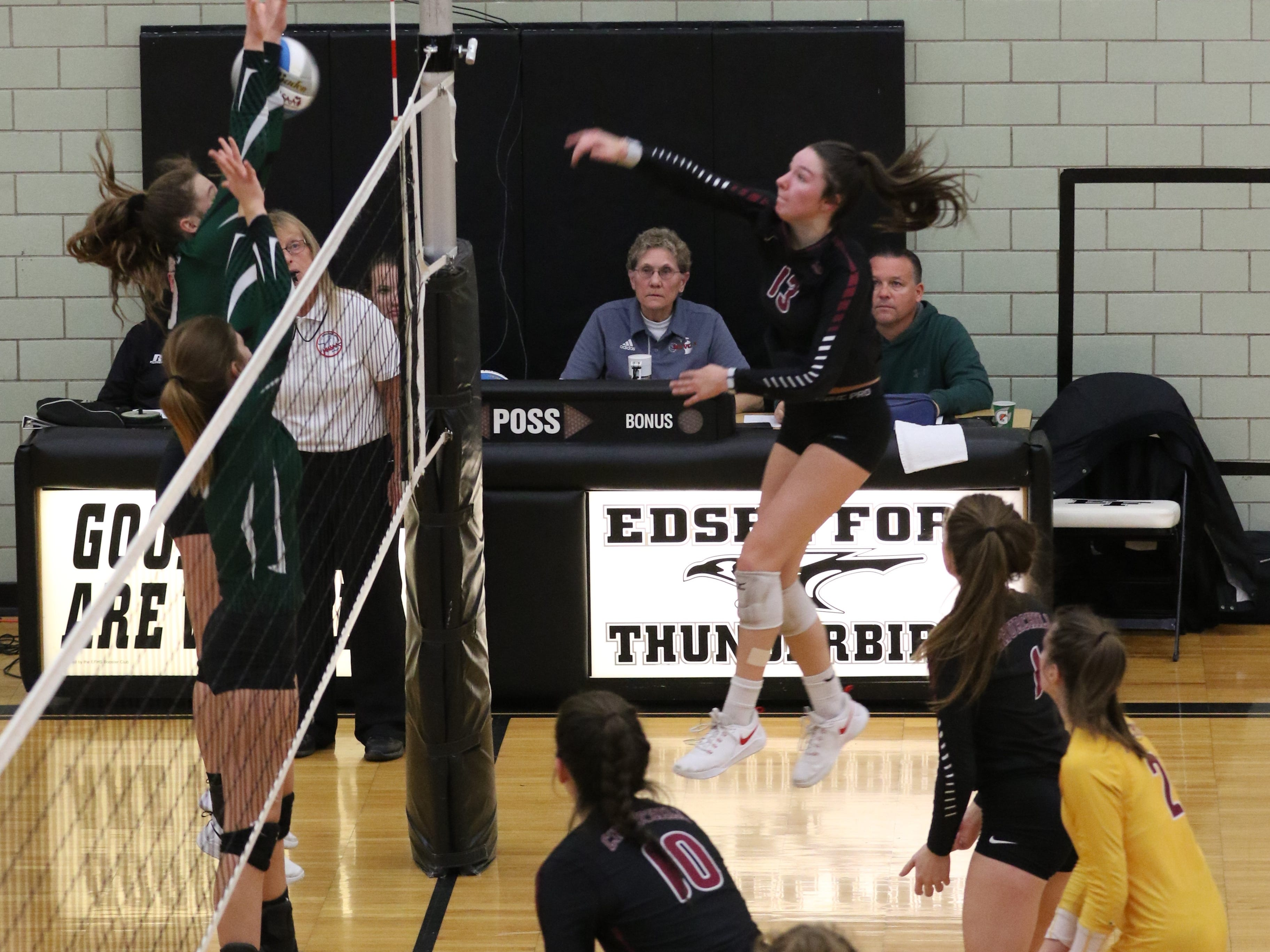 Livonia Churchill's menacing front line wreaked havoc on the Allen Park defense throughout Tuesday's contest.