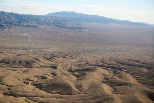 A development called Paradise Valley is proposed for this remote area just east of the Coachella Valley on both sides of Interstate 10, March 19, 2018.