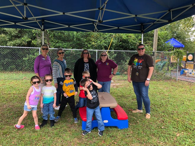 The Pilot Club awarded Capstone Adaptive Learning and Therapy Centers a grant for $5,047to provide sun protection for toddlers and children attending Capstone's children's programs.