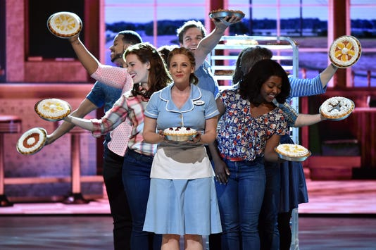 "Jessie Mueller and the cast of ""Waitress"""