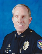 Mike Frazier during his time on the Phoenix Police Department