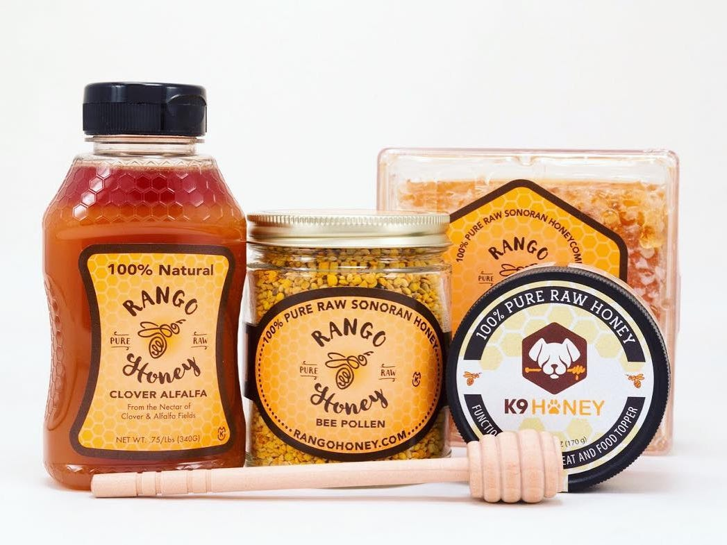 Rango Honey harvests raw honey and bee pollen from more than 1,500 hives located throughout the Sonoran Desert.
