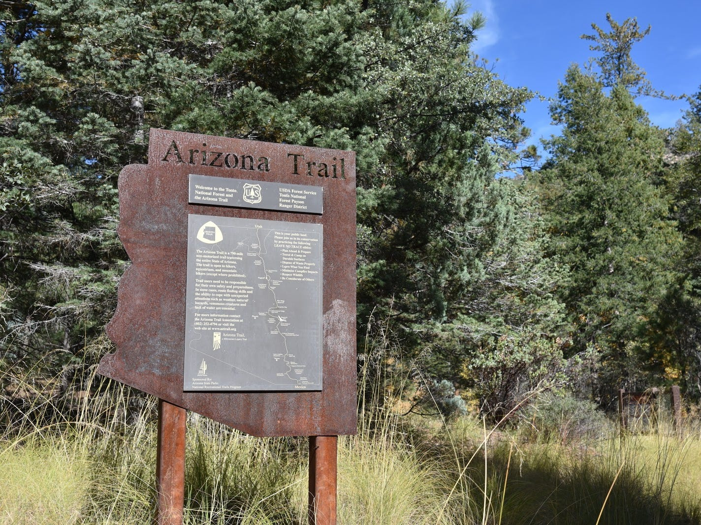 The Col. Devin Trail is part of the Arizona Trail.