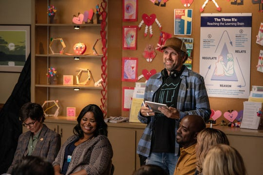 """Sean Anders directs Tig Notaro (left) and Octavia Spencer on the set of """"Instant Family."""""""