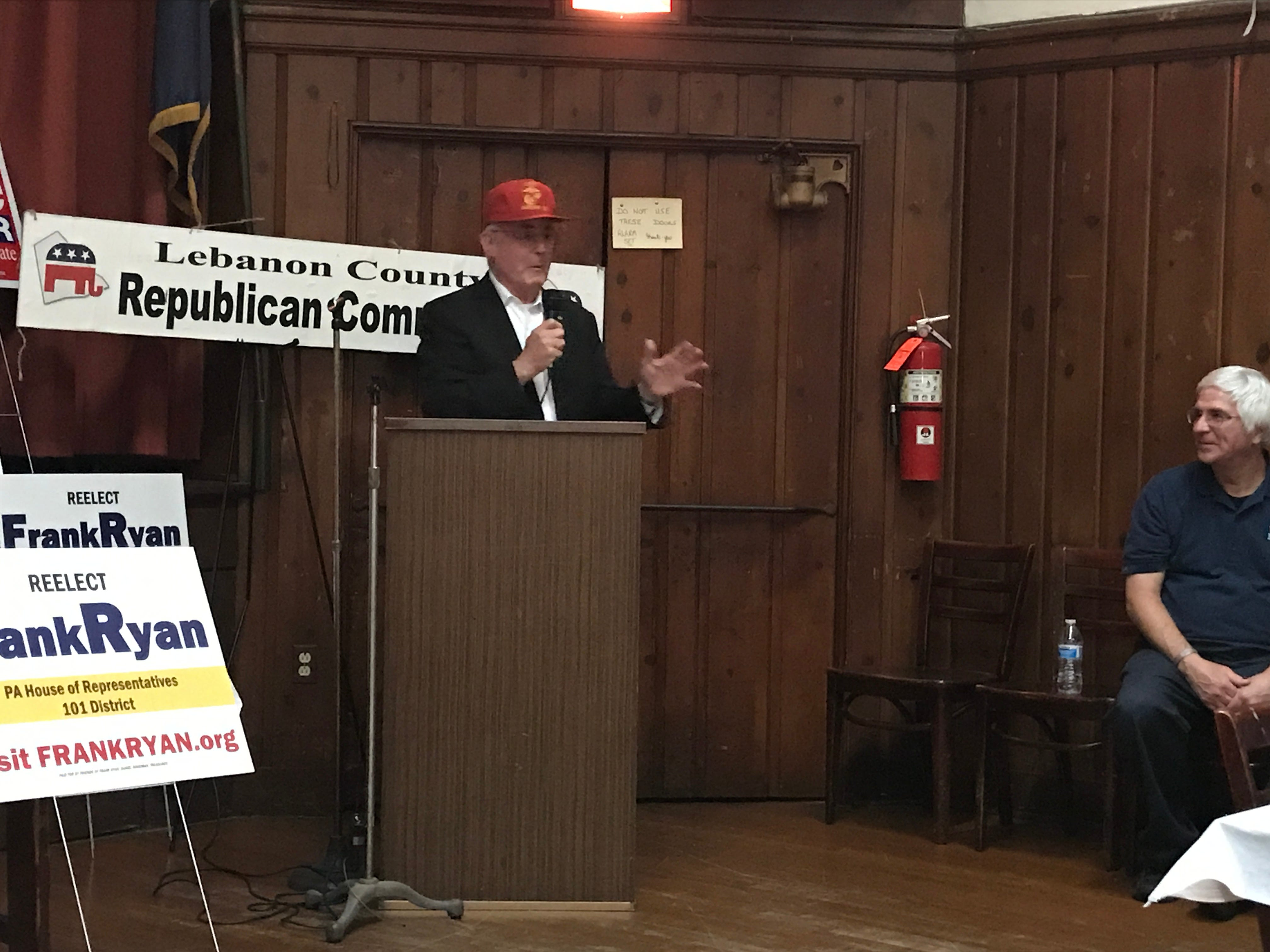 State Rep. Frank Ryan speaks at the Lincoln Republican Club following his reelection Tuesday night.