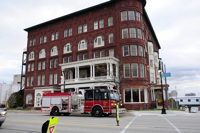 Firefighters were at the Harrington Inn after workers set off a fire alarm.