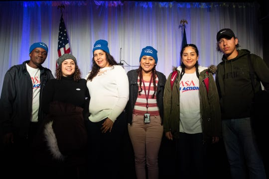 (Left to right) Eliud Kimani, Melissa Juarez, Genesis Torres, Nayely Lopez, Samantha Portillo, and Nathaniel Rivera canvassed for Governor Wolf to help him get r-elected, Tuesday, November 6, 2018. Tom Wolf was re-elected as Governor of Pennsylvania after defeating Scott Wagner.