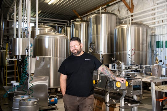 J.R. Heaps talks about running a business next to his brother for nearly the past decade in Fawn Grove, Thursday, Oct. 18, 2018. J.R., who owns South County Brewing, said, 'It feels natural,' about his and his brother's businesses being side-by-side. His brother, Chris, owns South County Auto.