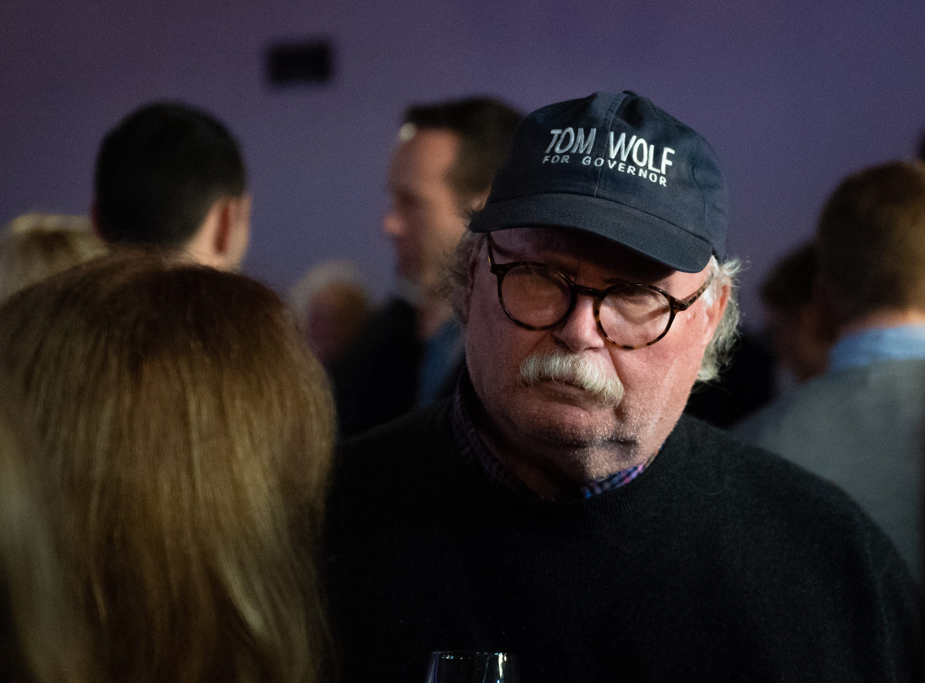 Tom Wolf themed clothing was a popular choice at the Governor Wolf and Mayor Fetterman Election Night Party, Tuesday, November 6, 2018. Tom Wolf was re-elected as Governor of Pennsylvania after defeating Scott Wagner.