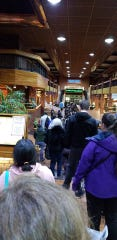 The line at 6:30 p.m. at Reno Town Mall.