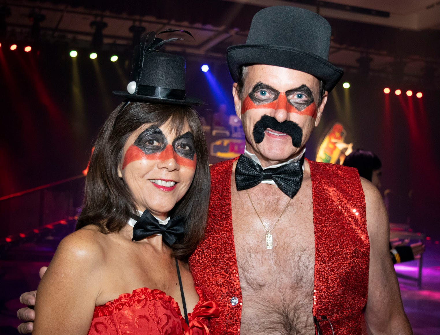 Janice and Dave Davis attend the Wild Erotic Ball on Friday, Oct. 26, 2018, inside the Silver Legacy Casino. Reno, Nev.
