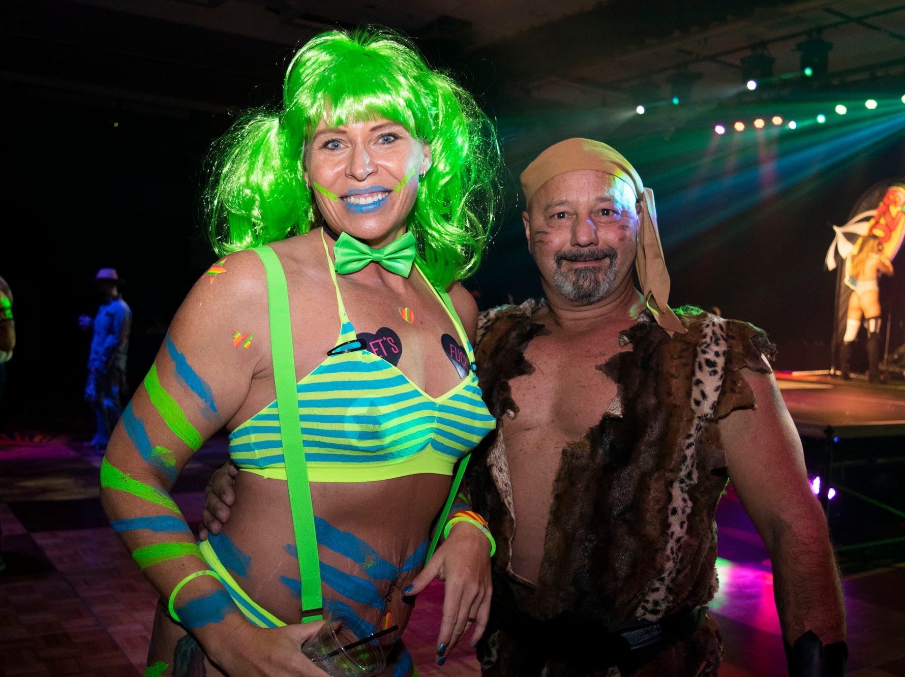 Amy Trelease and Anthony Pinto attend the Wild Erotic Ball on Friday, Oct. 26, 2018, inside the Silver Legacy Casino. Reno, Nev.
