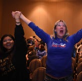 Images from the Democratic party at the Reno Ballroom.