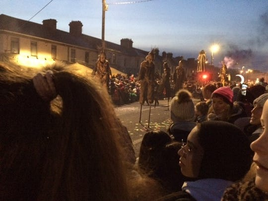 Scenes from the Halloween parade in Galway, Ireland.