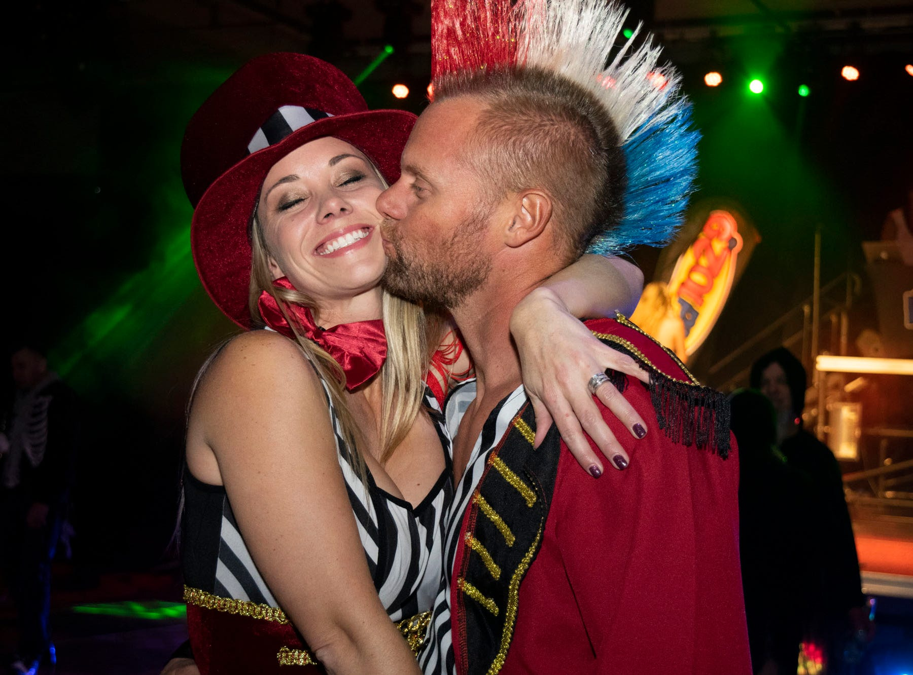 Heather and Tim Hinkle attend the Wild Erotic Ball on Friday, Oct. 26, 2018, inside the Silver Legacy Casino. Reno, Nev.