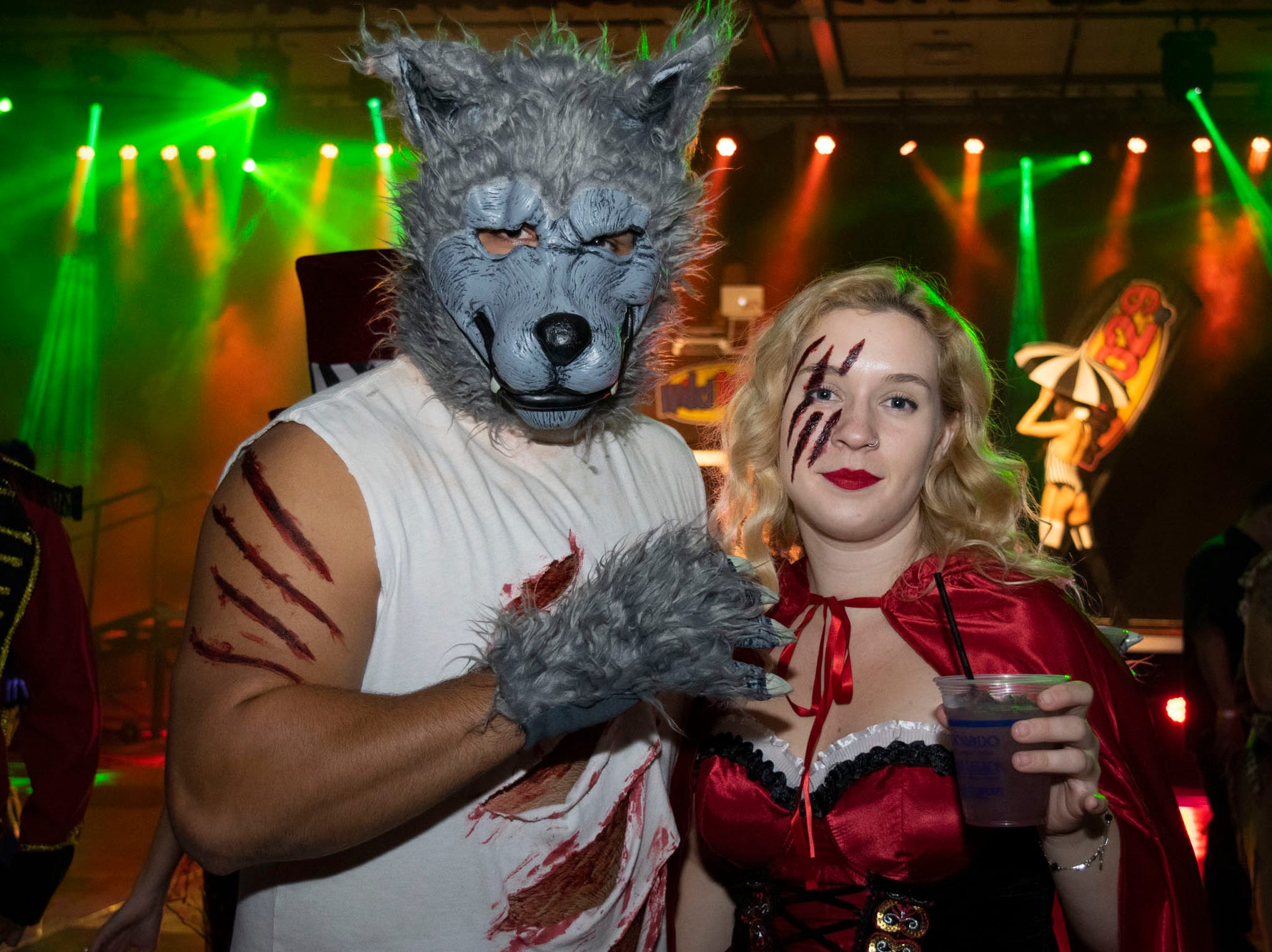 Andrew Anaya and Kristin White attend the Wild Erotic Ball on Friday, Oct. 26, 2018, inside the Silver Legacy Casino. Reno, Nev.