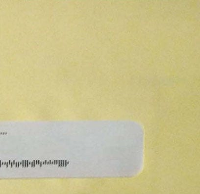 This yellow envelope from RIP Medical Debt means it's your lucky day