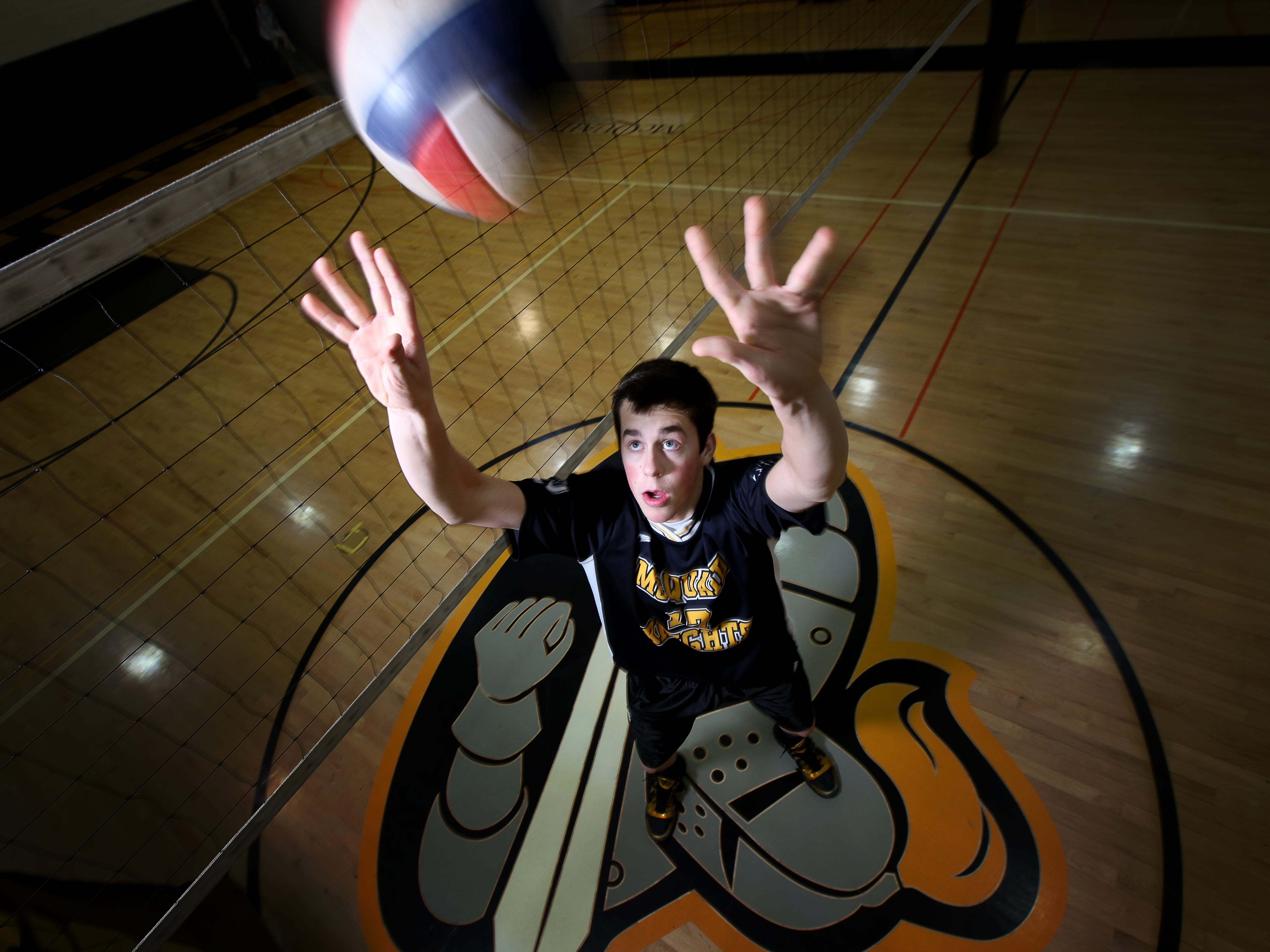 Boys volleyball All Greater Rochester player of the year McQuaid's Steve O'Dell at McQuaid Jesuit High School in Brighton, NY on Thursday, December 16,  2010.