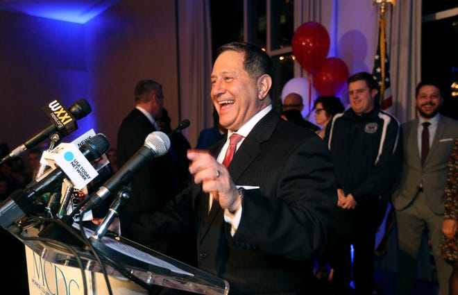 Joe Morelle speaks to supporters after winning a seat in Congress in New York's 25th district.