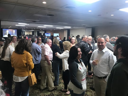 Supporters of Rep. Doug LaMalfa fill his election-night party at Chico's Ramada hotel Tuesday night.