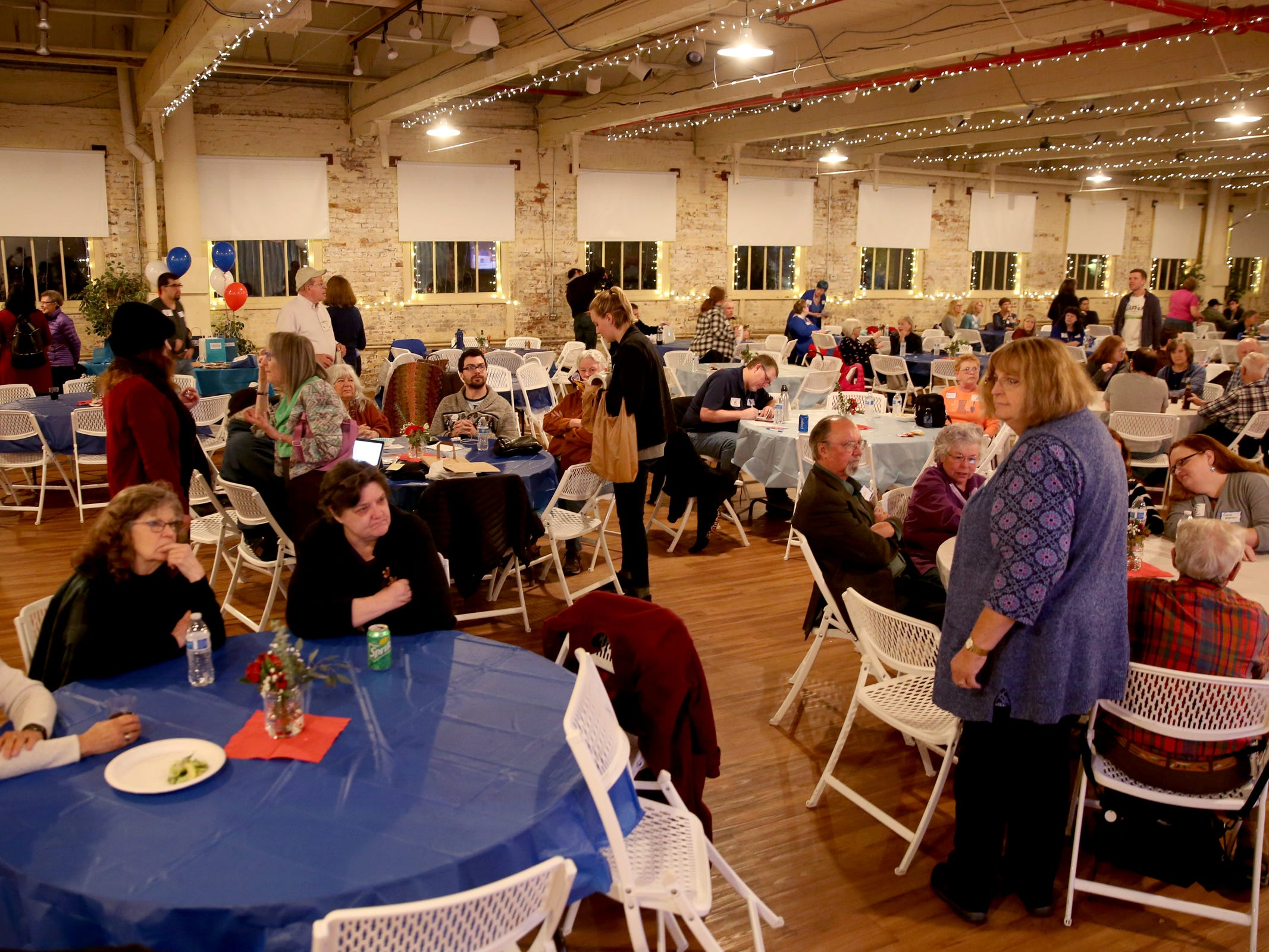 An election night party hosted by Marion County Democrats and Polk County Democrats at the Willamette Heritage Center in Salem on Tuesday, Nov. 6, 2018.